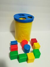 Baby's First Blocks #414 Fisher Price Usa Vintage 1977 Shape Sorter Toy.