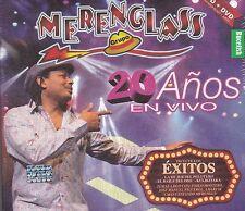 Grupo Merenglass 20 Anos en Vivo CD+DVD Caja de Carton Aduo Pablo Montero New