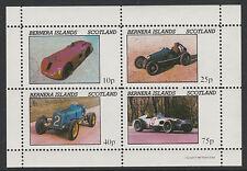 GB Locals - Bernera 3558 - 1981  EARLY RACIN G CARS perf sheetlet of 4 u/m