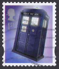 GB 2013 Doctor Who 1st Classe Tardis Definitive stamp used SG 3449