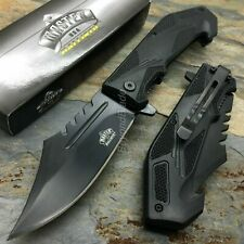 Black Swat Style Spring Assisted Survival Camping Rescue Pocket Knife