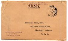 Barbados 1961 stampless OHMS cover from Postmaster General to US