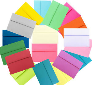 Assorted Multi Colors A2 A6 or A7 Envelopes for Card Invitation Wedding Shower