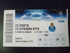 Tickets- 2008 UEFA Champions League- FC PORTO v FC DYNAMO KYIV, 21 Oct