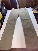 Levi 514 Tan Corduroy 32 x 30 Jeans Pants Slim Straight