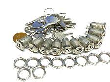 10 Sets Metal Key Switch Ks 02 Onoff Security Lock 12v 6v 250v Electronic B10