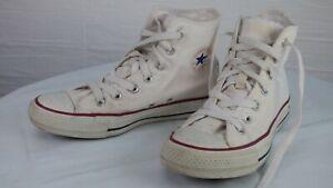 Converse All Star Chuck Tailor Classic M7650 White Hi Top Trainers UK 4 EU 36.5