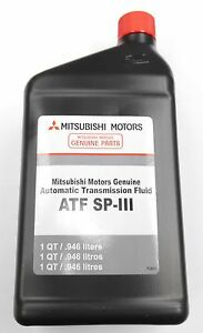 Genuine Mitsubishi SPIII SP3 & KIA Transmission Fluid ATF / 5 Quarts