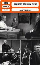 FICHE CINEMA : MAIGRET TEND UN PIEGE - Gabin,Girardot 1957 Maigret Lays a Trap