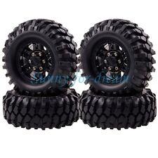 4P Black RC 1:10 Rock Crawler 1.9 Beadlock Wheels & 96MM Tires Gmade D90 SCX10