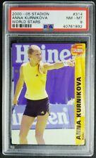 2000-01 stadion Czech #314 Anna Kournikova Rookie Card RC PSA 8 NM-MT POP 1
