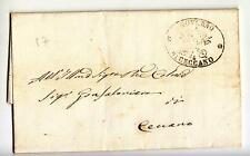 1857 STATO CHIESA lettera da CECCANO bollo ufficio Mittente-h838