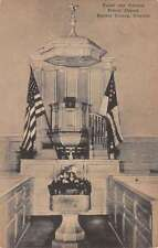 Fairfax County Virginia Pulpit Canopy Pohick Church Antique Postcard K32491