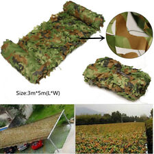 3 x 5m Camouflage Net Camo Netting Hunting Shooting Hide Army Camping Woodland