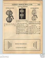 1936 PAPER AD Silex Capex Glass Coffee Maker Percolator Parts List