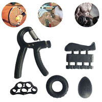 KQ_ 5Pcs Adjustable Hand Grip Finger Forearm Strength Muscle Fitness Exercise Ba