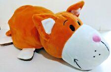 """2015 Jay Play Flip Flip-A-Zoo Large 20"""" Plush - Savannah Cat & Bodini Bulldog"""