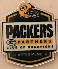 Green Bay Packers Partners Club Champions Charter Pin