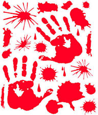 ZOMBIE HANDS BLOOD SPLATTER STICKER ZOMBIE FAMILY CAR BUMPER STICKER