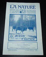 REVUE LA NATURE N°2667 1925 BISON / SONDAGES EN MER ULTRA-SONS / FLEURS DE L'AIR