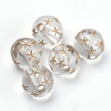 50 Acrylperlen 8 mm Acryl Perlen Metall plattiert Basteln Deko -2773