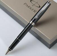 Perfect Parker Sonnet Series Bright Black Silver Clip 0.5mm F Nib Rollerball Pen