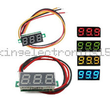 "0.28"" DC 0-100V / 2.5-30V 2/3-Wire Voltmeter LED Display Voltage Panel Meter K9"