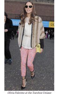 Olivia Palermo x Tibi Faux Fur Dollman Jacket Size Small