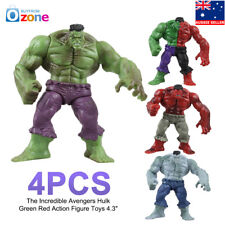 """4Pcs The Incredible Avengers Hulk Green Red Action Figure Toys 4.3"""""""