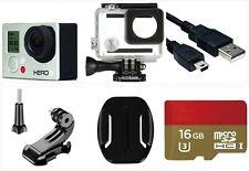 Refurbished GoPro HERO 3 White 1080P 5MP HD Camera waterproof Case 16G Card USA