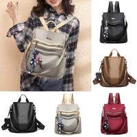 Women Anti-theft Leather Backpack Travel Rucksack Girl Shoulder Bag Handbag Tote