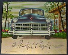 1947-1948 Chrysler Catalog Sales Brochure Town & Country Excellent Original