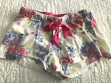 Old Navy XS Woman's Pink, Blue and White Flowered Pajama Shorts