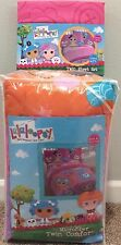 Lalaloopsy Twin Pink 3 Piece Cotton Sheet Set & Microfiber Twin Comforter NIP