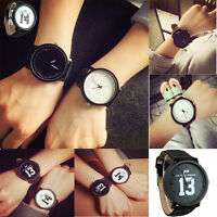 Fashion Unisex Men Womens Lover Watch Quartz Analog Large Dial Wrist Watches UK