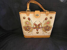 "Enid Collins ""Winged Friends"" Vintage Bucket Purse, NICE CONDITION"