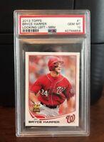 2013 Topps Mini Bryce Harper Nationals Baseball Card #1 PSA 10 Gem Mint