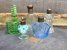A COLLECTION OF ANTIQUE/EARLY 20thC VINTAGE PERFUME BOTTLES-ONE WITH SILVER TOP