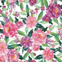 Riley Blake  Hampton Garden Main White C9440-WHITE MULTI  fabric*