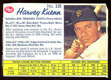 1962 POST BASEBALL CANADIAN #135 HARVEY KUENN EX COND SAN FRANCISCO GIANTS CARD
