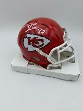 Travis Kelce Signed Kansas City Chiefs Speed Mini Helmet COA Hologram