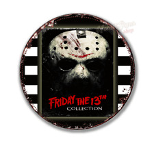 """FRIDAY THE 13TH film movie  12"""" round circular  shaped metal tin sign"""