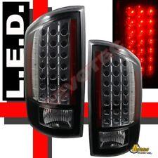 07 08 Dodge Ram 1500 07-09 2500 3500 Pickup Black LED Tail Lights Plug & Play