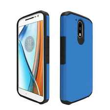 Orzly Duo-Armour Slim-Fit Dual Layer Protective Case for Moto G4 /G4 Plus- BLUE