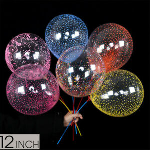 "Clear Latex Balloons Transparent With Coloured Foam Ball Party Decoration 12"" UK"