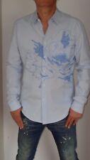3d1932fc02f Kenzo Chemise bleu ciel à fines rayures avec broderie en coton - Taille L -