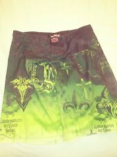 "Mma Elite Men Green Graphic Shorts Size large. Hook and latch.  ""A10"""