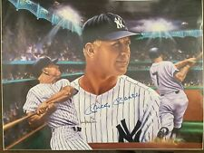 1986 Signed Mickey Mantle Print by Robert Stephen Simon - 18x24