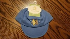 Disney Classic Pooh ~ Winnie the Pooh Blue  Baby Hat Cap One Size ~ Cotton