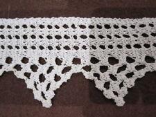 Dentelle de coton blanc au tricot, vers 1900, loisirs créatifs, restauration